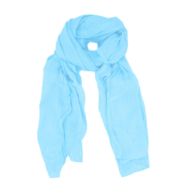 Light blue wool scarf