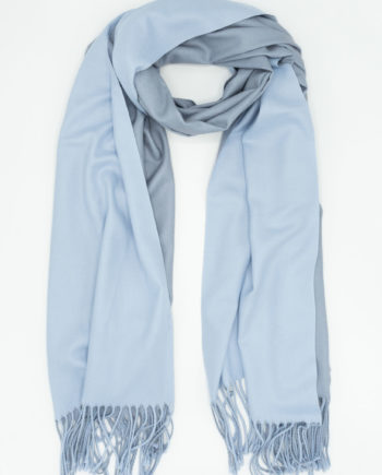 Two tone blue/grey scarf