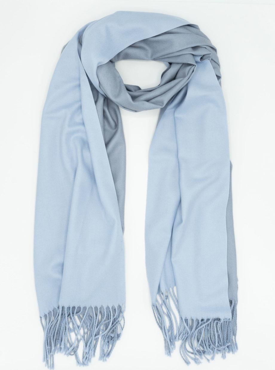 Two tone blue/grey scarf